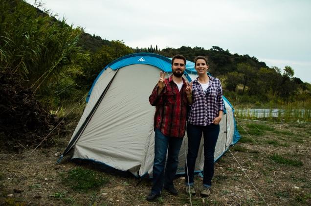 Installation de notre tente
