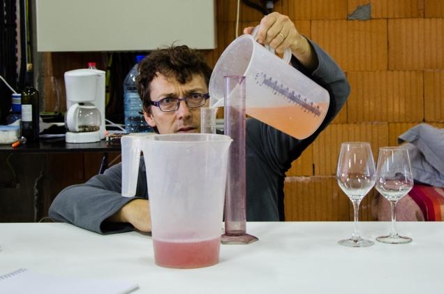 Test de l'assemblage Grenache - Syrah pour le rosé