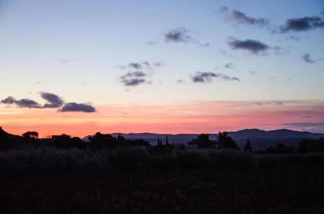 Lever de soleil sur le Mas Janeiil