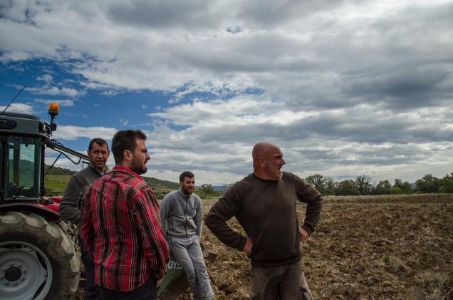 Visite des vignes avec Arnaud